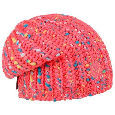 KNITTED & POLAR HAT Pink Fluor