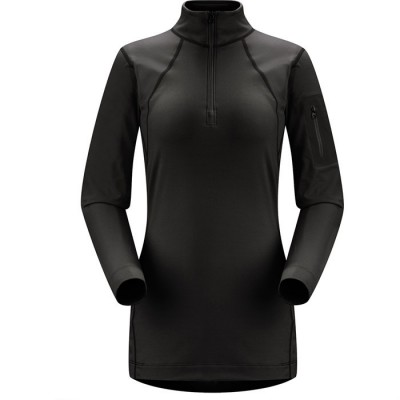 RHO LT ZIP NECK WOMEN'S black